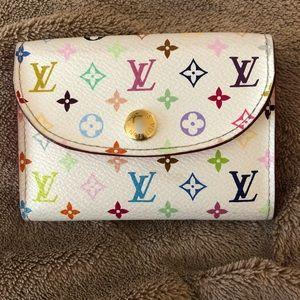 Louis Vuitton multicolor business card holder